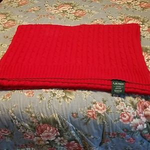 Red Ralph Lauren Throw